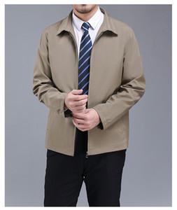 New Mens Designer Jacket Spring Autunno Autunno Manica Lunga Collo Collo Cappotto Allentato Casual Moda Maschio Capispalla