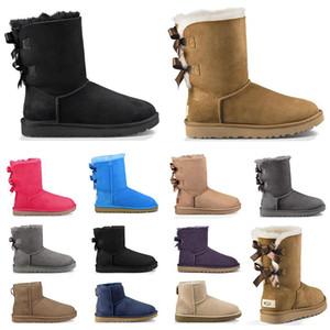 Qualidade superior de 2020 mulheres tornozelo botas de cetimugguggs ao ar livre australianos neve do inverno botas mulheres de designer sapatos botas de couro ful