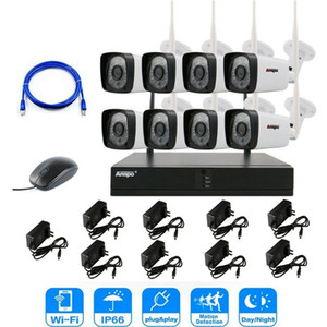 Anspo 2MP 1080P CCTV System 8ch HD Wireless NVR Kit Outdoor IR Night Vision IP Wifi Camera Security System Surveillance