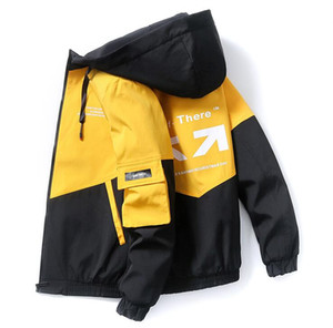 Men's casual spring and autumn light jacket 2020 new listing hooded jacket zipper shirt fashion trend personality jacket men