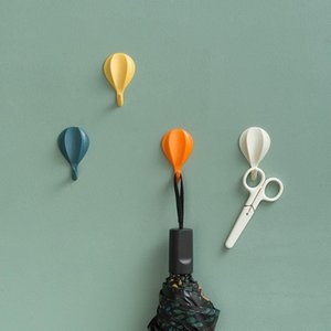8pcs Hot Air Balloon Wall Hooks Clothes Towel Mask Hanger Self-adhesive Bathroom Kitchen Hook Keys Organizer Holder Home Decor