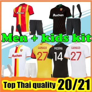 NCAA 20 21 RC Lens soccer jersey 2020 2021 FOFANA GANAGO Kakuta Gradit Fortes Perez home away third MEN football Shirt kids soccer Jersey