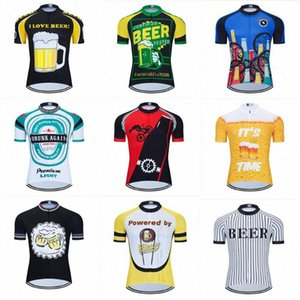 Moxilyn Mens Cycling Jerseys Top Skinsuit Cycling Clothing Mountain Bike MTB Breathable Sweat-absorbing Quick-drying I Love Beer g3gY#