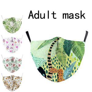 20pcs Designer Face Masks Luxury Mask Washable Cloth Dustproof Respirator Outdoor Cycling Flower Print Masks for Women Men