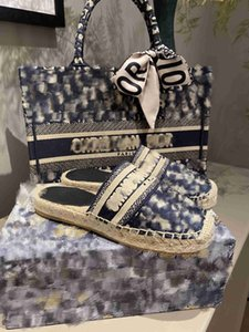 2020 New Luxury Obliques Designer Femmes Granville Espadrilles Mode Plateforme Femmes Chaussures Fisherman Oblique Espadrilles Multipl