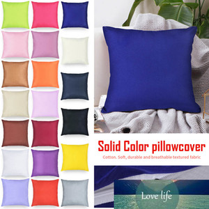 Cotton Decorative Pillow Case Sofa Cushion Cover 1pc Relaxing Solid Color for Throw Pillows Knee for Good Sleeping 40x40cm Body