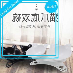 Prodotti PET PET Anti Slip Neck Protection Ear Plastic Double Trasparente Incl Fined Bowl Cat Food Basin