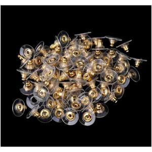 الجملة 200 قطع الذهبي لهجة البلاستيك القرط سدادات الأذن بعد المكسرات ث / منصات 11x6 ملليمتر مجوهرات العثور الملحقات ts7el