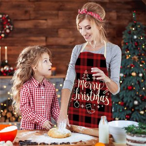 Lino Merry Christmas Grembiule Decorazioni natalizie per la casa Accessori per la cucina 2021 Capodanno Regali di Natale GWC4412