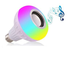 Smart RGB white Bluetooth speaker LED light bulb adjustable music light wireless LED remote control birthday gift