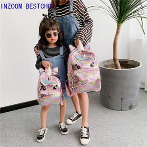Unicorn блестки Детских Детские ранцы для девочек-подростков Рюкзака мультфильм милых рюкзаков Большого Mochila Infantil Q1113