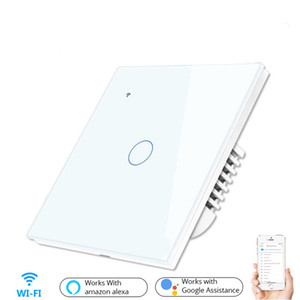 WiFi Touch Smart Wall Switch Phone App Remote Control Wall Switch Work with Alexa Amazon Google Home Voice Control