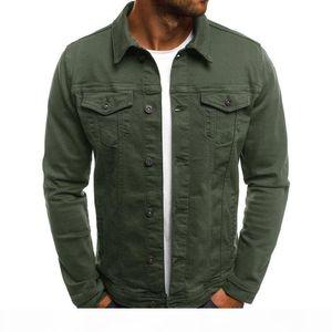 2020 Mens Denim Jacket Fashion New Wild Cool High Quality Tide Mens Casual Long-sleeved Distressed Denim Jacket