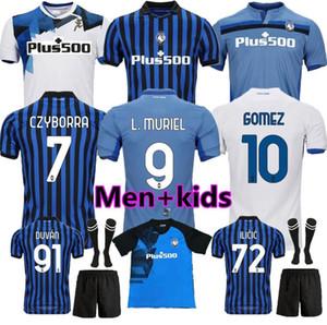 20 21 atalanta الرئيسية أزرق أبيض Gosens رجل كرة قدم الفانيلة غوميز 2020 2021 l.muriel ilicic de roon duovan atalanta كرة القدم قميص موحدة 2021