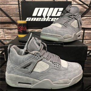 Pairs Top Quality Guava Ice Cream Sail Bred Scarpe dell'Unione Jumpman 4 Mens Basketball Kaws Black Cat Cool Grey Cactus Jack Sport Sneakers
