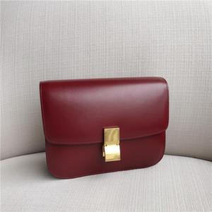Echtes Leder Handtaschen glänzend Tofu Bag 2021 Neue Schulter Messenger Flug Begleiter Tasche Retro Weiblich