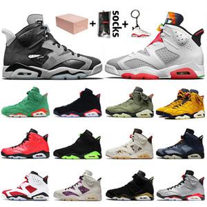 Nike Air Jordan 6 6s Retro Travis Scott 6 2020 Hare con la caja de Jumpman zapatos de baloncesto del Mens del infrarrojos DMP Hombres Formadores las zapatillas de deporte