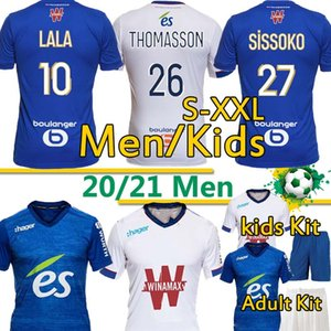 RC Strasbourg Maillot de up alsace футбол для футбола 2020 21 футбол футболки Djiku Thomasson Lala Sissoko Hommes Enfants Men Kits Kit