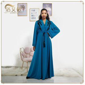 Этническая одежда Куклут Дубай Абая Кимоно Кардиган Мусульманское хиджабское платье Турецкая Саудовская Аравия Африканские платья для женщин CAFTAN HOBE ISLAM
