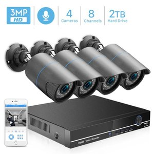 Wireless Camera Kits 8CH 4MP POE NVR CCTV Security System 4PCS 2.0MP 3.0MP 1440P Audio Record IP IR P2P Outdoor Video Surveillance Kit 2TB H