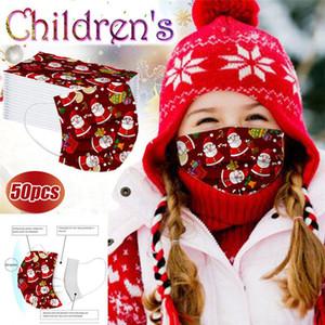Tasarımcı Tek Noel Yüz Maskeleri Santa Kardan Adam Hediye Çocuklar Yetişkin Çocuklar 3-tabakasının korunması Sağlık Maske Yüz Sıhhi Maskeler yazdır