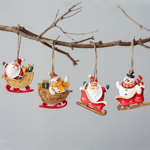 HOT Christmas resin pendant Christmas Tree pendant decorations accessories Christmas decorations home hotel ornament T500443