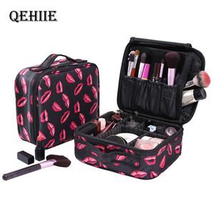 Qehiie Nova Moda Mulheres Cosméticos Sacos de Viagem Maquiagem Profissional Make Up Caixa Cosméticos Bolsas Bolsas Beleza Capa Para Maquiagem T200519