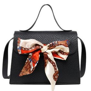 Silk Scarf Bow Crossbody Bag Women Messenger Bag Ladies Shoulder Coin Purse Portable Travel Handbag