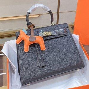 Mulheres bolsa bolsa designers de couro bolsas de ombro senhoras grande capacidade bolsas de lona carteira luxurys aço hardware mão sacos de pacote caixa de pacote