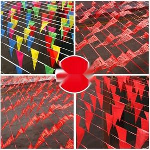 RL7mo personnalisée petite ouverture de barre de traction de couleur triangle flag Couleur aucun mur drapeau suspendu communauté décoration intérieure clMuX rouge