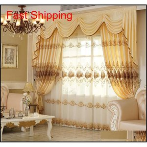 Curtains For Living Dining Room Bedroom New European Style Water Soluble Embroidery Curtain Tulle Valance F qylcQl pets2010