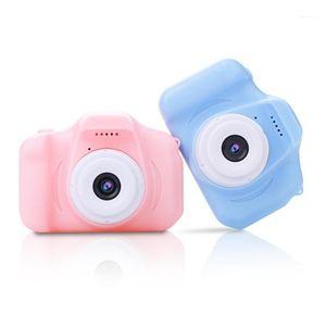 Цифровые камеры Цвет экран Детская спортивная портативная камера Mini HD игрушечная стрельба 720P 30fps мультфильм милый открытый английский версия1