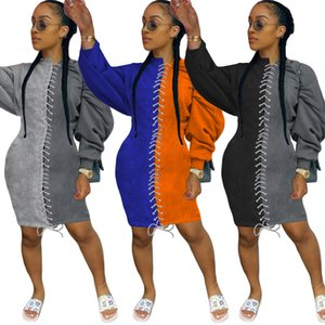 Sexy Frauen Kleidung Bat Sleeve Knielange Kleid Kontrast Farbe Nähen Pullover Rock Herbst Damen Neue Mode Kleider
