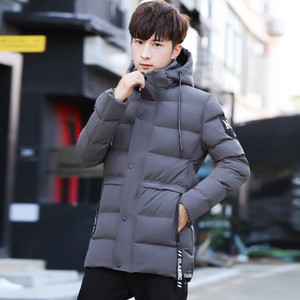 HnhP Fashion-2019 Winter Luxury Designer Jacket Winter Coats Puffer Mens Jackets Long Warm Winter Coat Trench Parka Doudoune Homme Plus Size