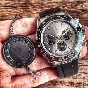 최고 품질 남성의 40mm 시계 석영 자동 스틸 팔찌 세라믹 베젤 사파이어 116500 116520 데이토나 시계COSMOGRAPH 다이브 q6Ax 번호