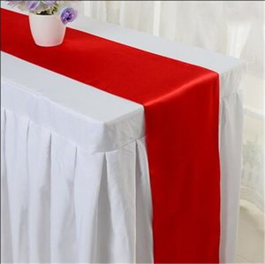 Table Cloth Solid Color Table Runner Decor Tablecloth Cloth Fabric Decoration Runners Party Decorations For Tables 30*275cm YYB3810