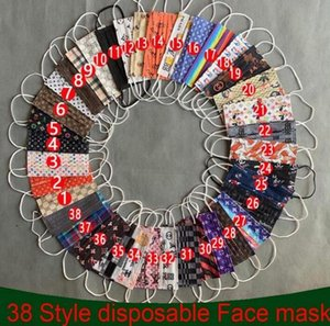 39 Style Brand Designer Anti-Dust Mouth Masks Disposable Face Mask Multicolor Dustproof Protective Adult Man Woman PBT Melt-blown Nonwoven