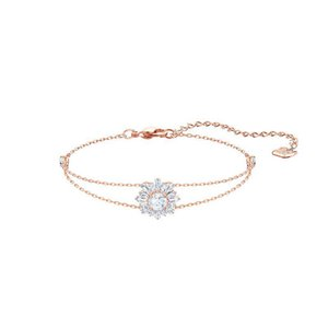 Swallow's New Sunflower Fashion Crystal bracelet Red