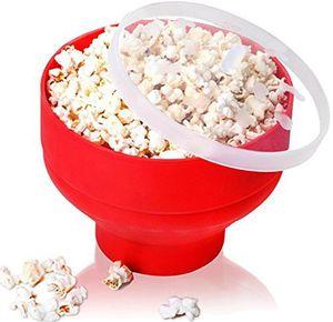 Silicona Popcorn Bowl Pop Corn Main Maker Gowl Microondas Safe Maopcorn Home Microwaveable Bucket