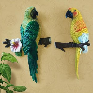 Blackground Resina Parrot Wall Murale Sculture Decorazione Uccello TV Home Soggiorno Artigianato Garden Shape Art Statue figurine BBYSVL