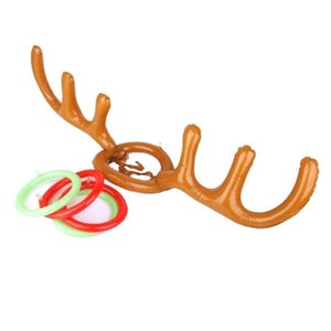 200pcs Funny Reindeer Antler Hat Ring Toss Christmas Holiday Party Game Supplies Toy Children Kids Christmas Toys GGD2066