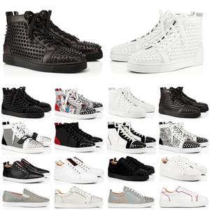 designer luxury Brand ACE Tasarımcı Rahat Ayakkabılar Erkekler Kadınlar Için Çivili Sneakers Kırmızı Alt Parti Severler Hakiki Deri Moda Sneaker Boyutu 5.5-12