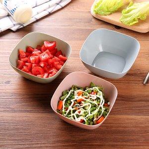 3 Cor Food-Grade Praça de plástico Salada de Frutas Lanche Doce Prato Tigela Dish Basket Saúde e ambiental Suave portátil
