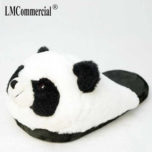Cotton Plush especiais Indoor Shoes Panda macia e quente MenWomen Chinelos personalizados Slipper Cottoon Slipper amantes piso sapatos Inverno 201104