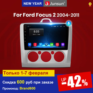 JUBSUN V1 Android 10 AI Control de voz DSP Radio de automóvil Multimedia Player GPS para Ford Focus 2 3 MK2 / MK3 Hatchback DIN