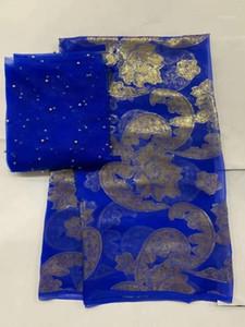Tissus de dentelle française royale en dentelle imprimée tissu de soie en dentelle perlée Brocade Jacquard Tissu African Tulle 2019 Yard / Setaj-1