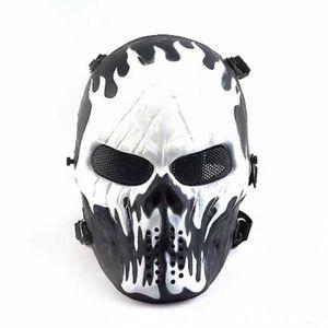 Kafatası Taktik Maske Serin Cosplay Airsoftsports Taktik Av Motosiklet Paintball Halloween Party Dekorasyon K410G Maskesi