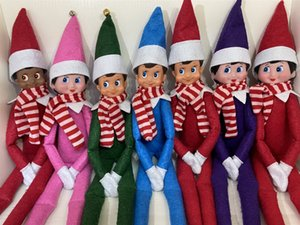 Foreign trade Santa Claus wearing scarf doll doll decoration doll factory direct sales new products