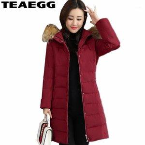 Teaegg caldo inverno giacche donna parka femme cotone imbottito Plus size 3xl slim casual casual cappotto inverno parkas outwear AL14721
