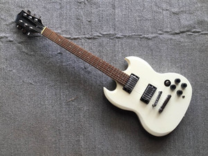Custom Shop SG White Electric Guitar Rosewood Fertsboard Humbucker Pickups Guitar Chrome Hardware China Guitars Free Shipping